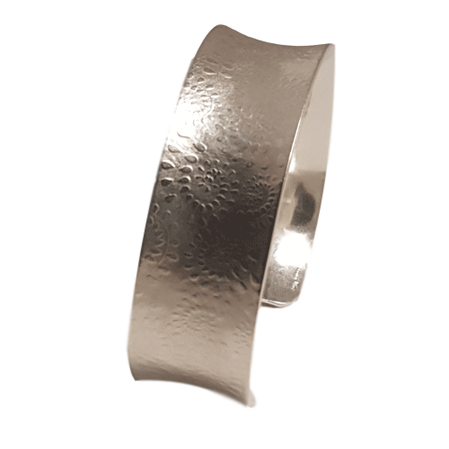 20mm Sterling Silver Paisley Textured  Cuff Bangle  073
